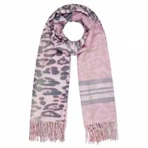 Sjaal Striped Leopard